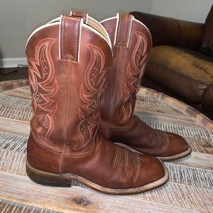 Justin Men's 8.5 Leather Western Cowboy Boots
